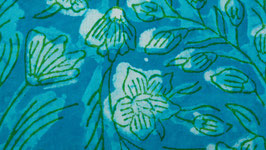 Prairie florale bleu turquoise (1)