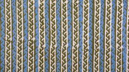 Batik linéaire vert olive