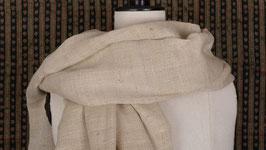 Étole soie et laine écrue