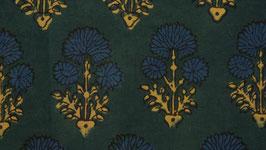 Ajrak aux fleurs bleues