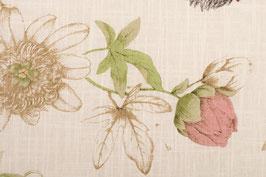 Couvre-lit aux fleurs vert amande