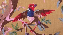 Oiseaux de paradis dans une nature caramel