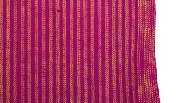 Tissu à rayures rose tyrien