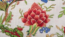 A. Nappe aux grandes fleurs rouges