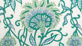 Fleurs charnues bleues et vertes