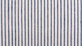 Tissu bio aux rayures bleues