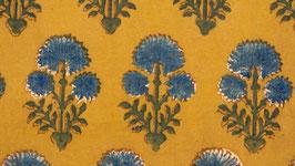 Ajrak aux grandes fleurs indigo (2)