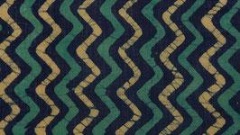 Batik à chevrons jaunes et verts
