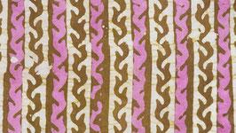 Batik linéaire parme