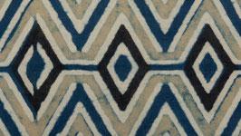 Zigzags anthracite indigo