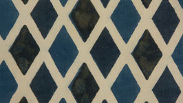 Losanges bleus et anthracite