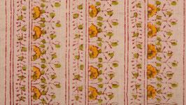 Frises florales rosées