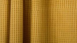 Trame imprimée ocre jaune