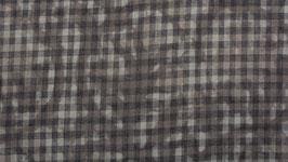 Rondeau floral gris brun
