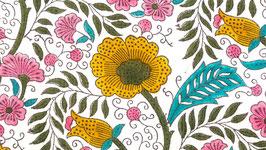 Prairie aux fleurs multicolores