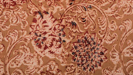 Kalamkari floral ocre rouge