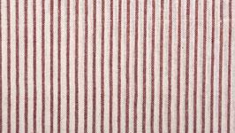 Tissu bio aux rayures rouges