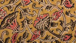 Nappe kalamkari aux fleurs d'hibiscus (2)