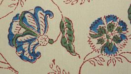 Œillets et fleurs bleus