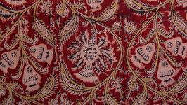 Nappe kalamkari aux fleurs enlacées (2)