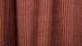 Tissu handloom rayé jaune et rouge