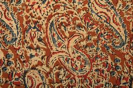 Fleurs de Cachemire ocre brun