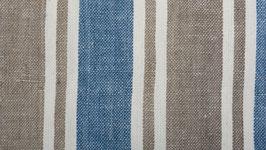 Tissu bio aux bandes brunes bleues (2)