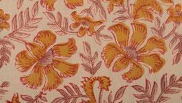 Hibiscus stylisés ocre jaune