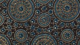 Mosaïque orientale ocre brune