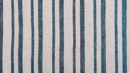 Tissu bio aux deux rayures bleues