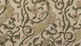 Élans ou animaux mythiques vert amande