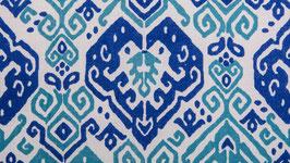 Géométrie bicolore bleue et turquoise