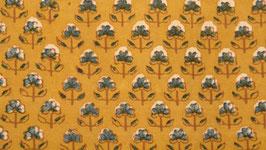 Ajrak aux petites fleurs indigo (2)