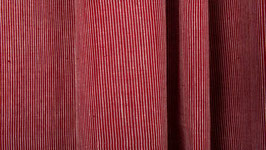 Tissu handloom rayé blanc et rouge