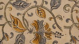 A. Kalamkari au feuillage ocre jaune