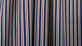 Rayures imprimées bleues et rouges