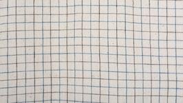 Tissu bio à petits carreaux bicolores