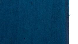 A. Tissu tissé de bleu pétrole