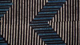 Zigzags bleus et rayures anthracite