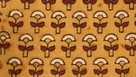 Ajrak aux petites fleurs ocre rouge (1)