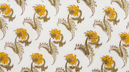 Petites fleurs ocrées au feuillage kaki