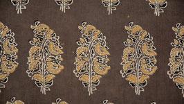 Grand motif floral ocre jaune