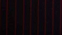 Rayures rouges sur un noir aubergine