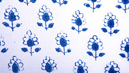 Petite couronne florale bleu azur