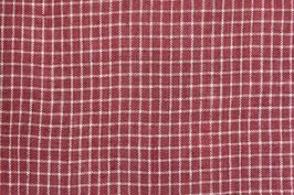 A. Tissu bio rouge petit damier (47B)