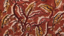 A. Kalamkari au feuillage orangé