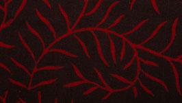 Volutes florales rouges