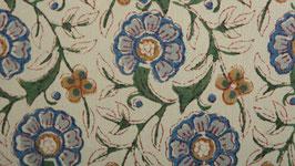 Couronne florale bleue