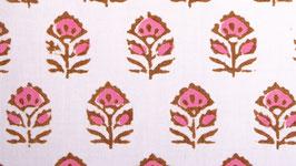 Petite couronne florale rose caramel