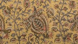 A Kalamkari aux fleurs oiseaux